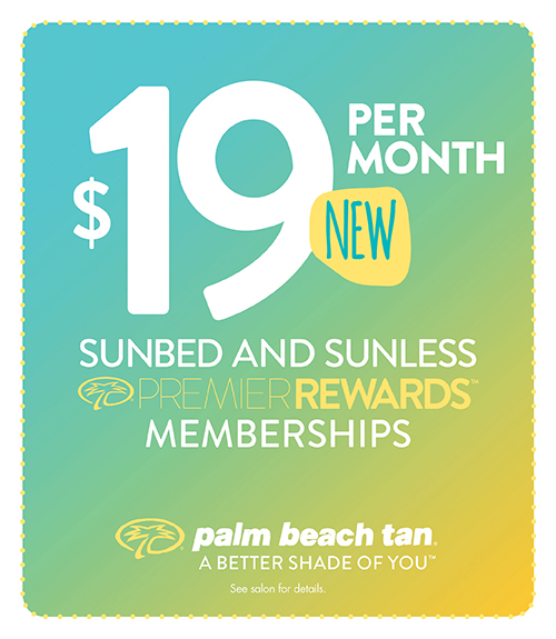 $19 Sunbed or Sunless Membership!