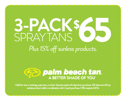 3-Pack Spray Tans $65