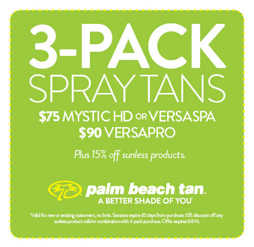 3-Pack Spray Tans $75/$90
