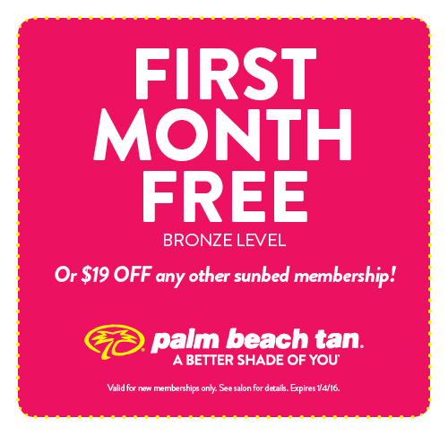 First Month Free or $19 Off Any Other Sunbed Membership