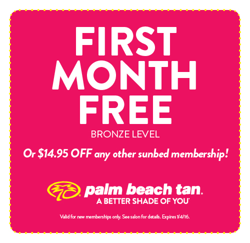 First Month Free or $14.95 Off Any Other Sunbed Membership