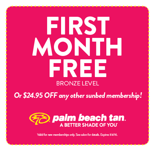 First Month Free or $24.95 Off Any Other Sunbed Membership