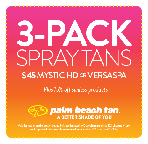 3-Pack Spray Tans $45