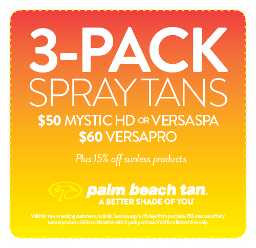 3-Pack Spray Tans $50/$60