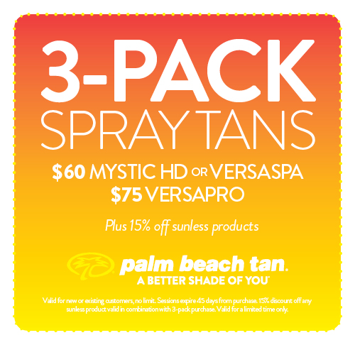 3-Pack Spray Tans $60/$75
