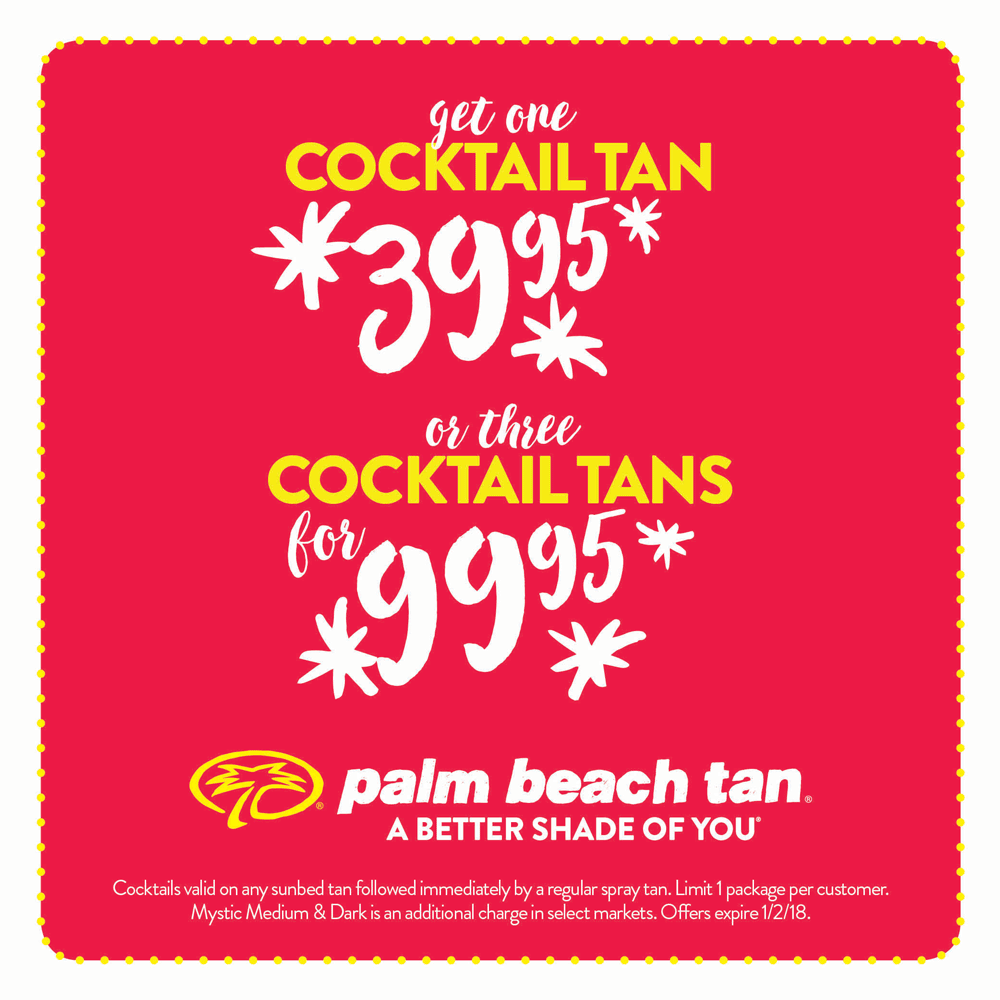 Buy 1 Cocktail Tan $39.95 or Buy 3 Cocktail Tans $99.95